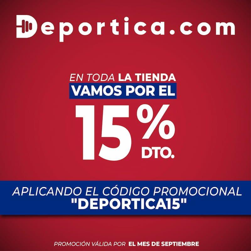 Deportica descuento 15%